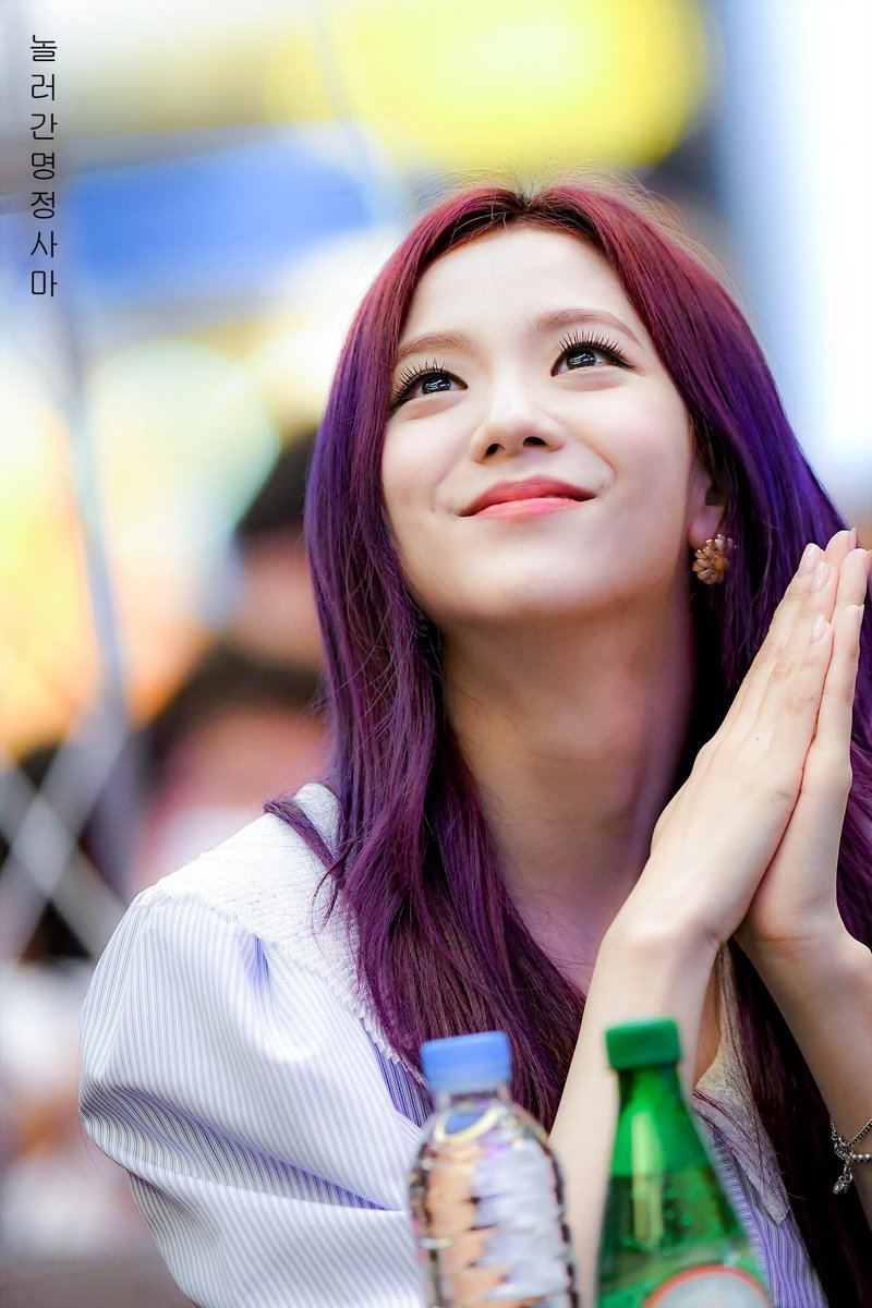 7 Photos Of Blackpink Jisoo S Enchanting Purple Hair Will
