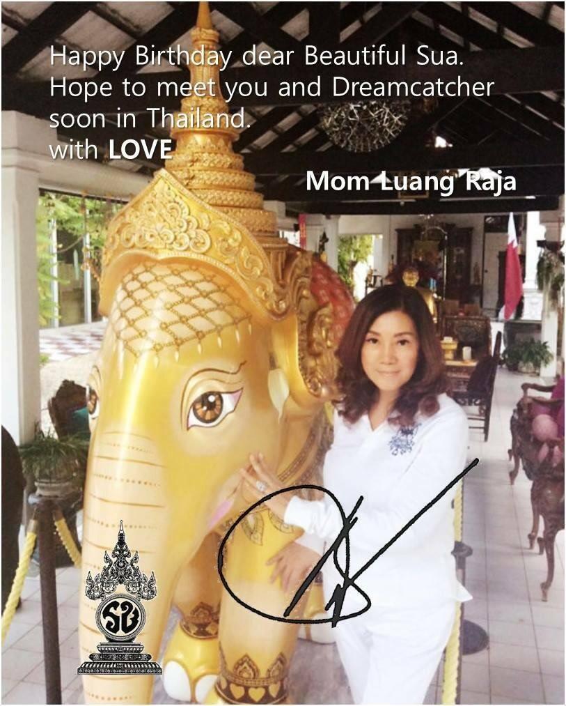 Thailands Princess Sent Dreamcatchers Sua Happy Birthday Wishes