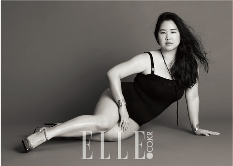 kim gee yang is korea's first plus size model to be featured in