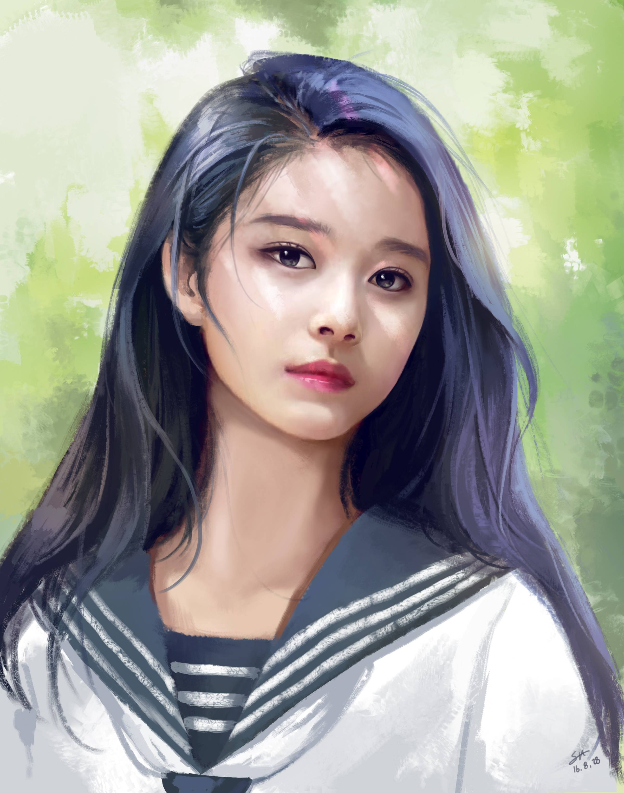 Twice S Tzuyu Is The Perfect Muse For Talented Artists