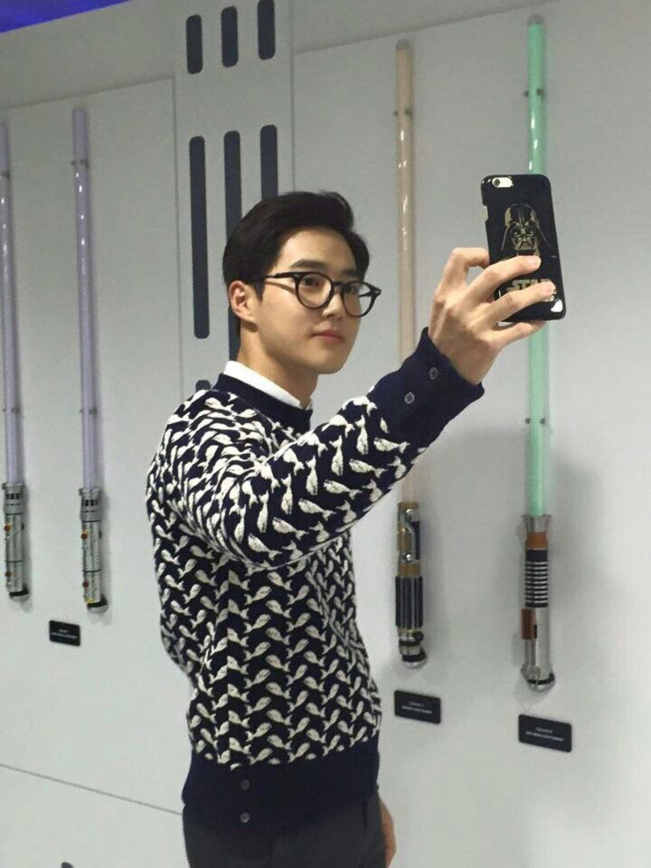 Suho selfie