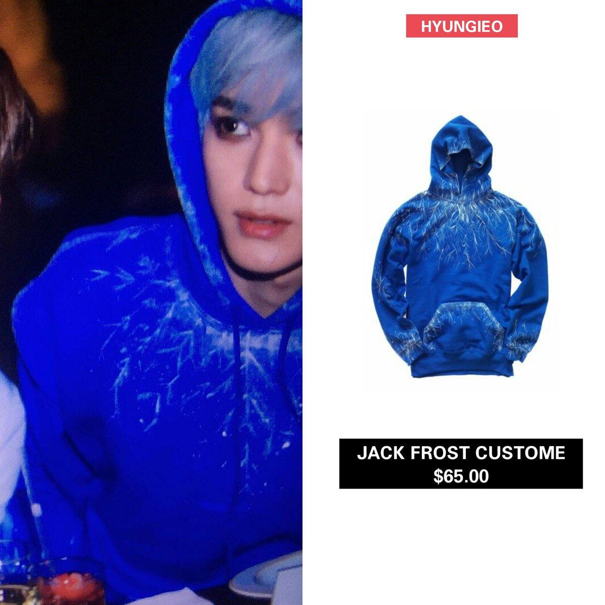 nct fans are buzzing all over the net on how cute that taeyong actually wore the jack frost blue hoodie costume