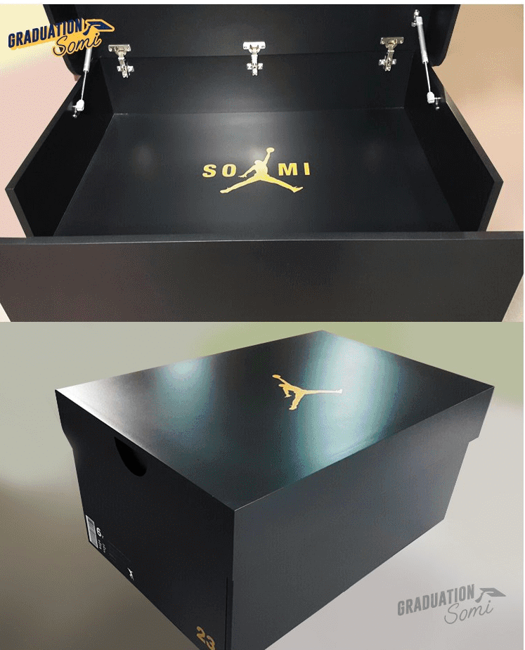 Somis Fans Gifted Her With A Customized Jordan Shoe Chest For Graduation