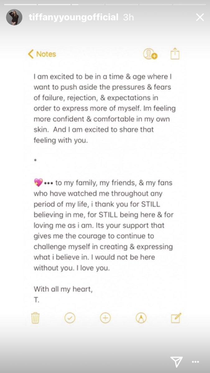 Tiffany's heartfelt letter